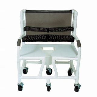 Medline Bariatric Heavy Duty Shower Chair Rolling 700 L