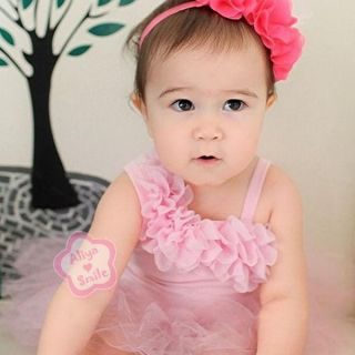 One Shoulder Baby Girl Tutu Dress Infant Princess Tulle Outfits Romper Jumpsuit