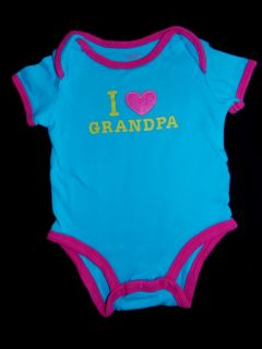 I Love Grandpa Shirt Newborn Infant Baby Girl Spring One Top Clothes 3 6 3 6 MO