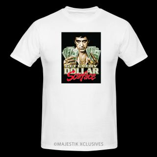 Scarface Get Every Dollar Movie T Shirt Hip Hop Urban Street DVD Gangster Mob