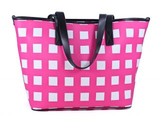 Kate Spade Pink White Nylon Checker Place Harmony Baby Bag New