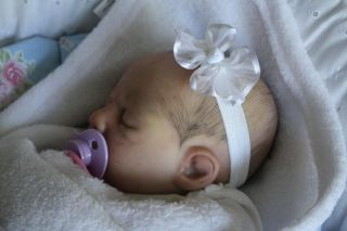 Reborn Baby Doll Girl Painted Hair Ultra Realism Sale