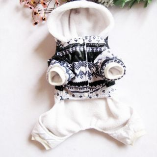 Autumn Winter Black and White Dog Clothing Coat Wear Dog Jacket Sweater Clothes