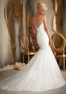 Hot Sweetheart Women's Mermaid Backless Wedding Dress Bridal Gowns Custom Size