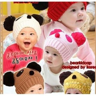 Baby Winter Warm Panda Kids Boy Girl Hat Children Knitted Caps Crochet Beanie BL