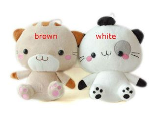 Wholesale Animals Cute Couple Big Face Cat Plush Toy Doll Gifts for Baby