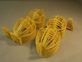 Standard Work String Light Bulb Covers 6in Diameter x 6 1 2in H Yellow Set of 10
