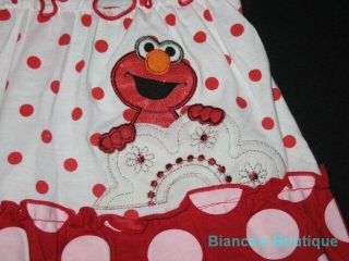 "New ""Elmo Polka Dot"" Dress Girls Summer Clothes 2T Spring Toddler Sesame Street"