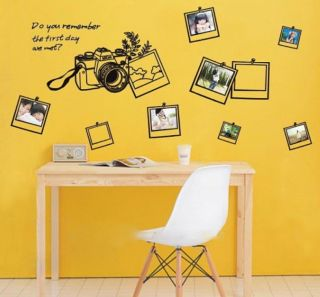 Camera Photo Frame Memory Wall Stickers Decals Vinyl Art Removable Home Decor