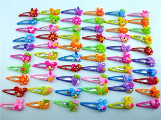 50pcs Assorted Girl Baby Toddler Kid Favour Dancing Hair Clips for Kids