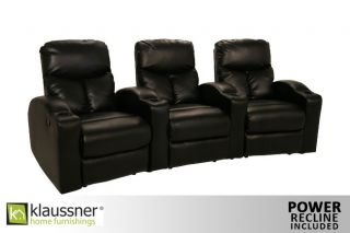 Klaussner 7 Seats Home Theater Seating Chairs Power