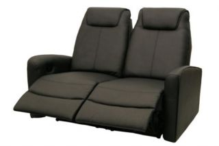 Seatcraft Bella Home Theater Seating 5 Seats 2 Wedges Black 4 Recliner Chairs