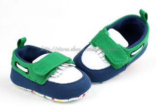 Toddler Baby Boy Boat Deck Crib Shoes Sneaker Size Newborn to 18 Months