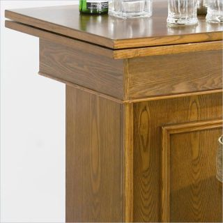 Coaster Mitchell Unit w Storage Game Table Oak Finish Home Bar