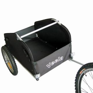 Veela Bicycle Cargo Trailer Bike Shopping Picnic Carrier in Yellow Black 2021701