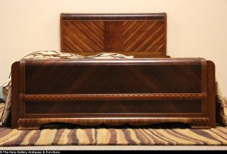 Art Deco Waterfall 1935 Queen Size 4 PC Bedroom Set