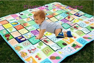 Baby Toddler Kid Large Crawl Play Mat 200cm 180cm Picnic Beach Camping Cusion
