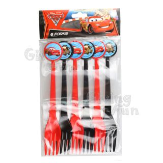 Authentic Disney Pixar Cars Lightning McQueen Birthday Party Supplies 6X Fork