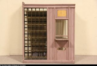 Post Office 1900 Salvage Window Counter Home Theater Ticket Window