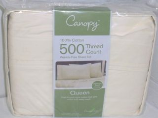 Canopy Queen 500 Thread Count Sheet Set Fresh Ivory