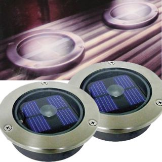 2 Pack Bright White LED Solar Powered Garden Decking Deck Lights Patio Driveway