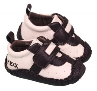 White Chocolate Baby Boy Soft Sole Shoes Sneakers Size Newborn to 12 Months