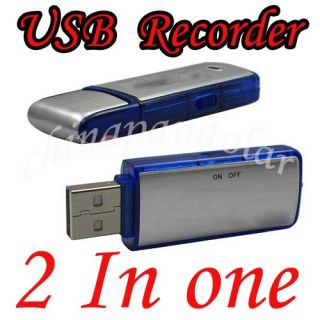 New 4GB 4 GB 4G Spy Ear Bug Voice Recorder USB Flash Drive Gadget Dictaphone S