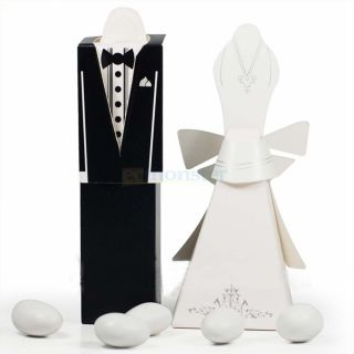10 Pairs Tuxedo Dress Wedding Party Supply Favors Candy Gift Box Boxes 000