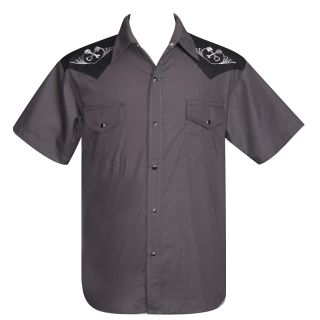 Steady Clothing 'Wrenched' Western Shirt Rockabilly Tattoo Retro Kustom Punk