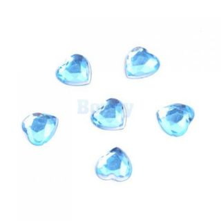 500 x Heart Shaped Crystal 50 x Round Diamond Beads Wedding Party Decor Favor