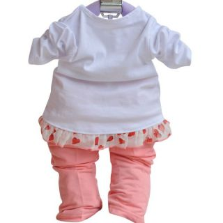 3pc Baby Girls Outerwear Long Sleeve T Shirt Long Pants Set Suit Girl Clothing