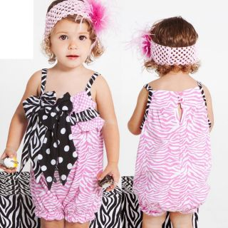 New Baby Girl Summer Sweet Princess Tank Bow Skirt Dress Cotton Romper Jumper