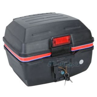 New Universal Motorcycle Motocross Luggage Trunk Case with 2 Keys Matte Black