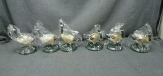 New Lot 6 Byers Choice Carolers Geese Canadian GOOSE Christmas Accessory 5""