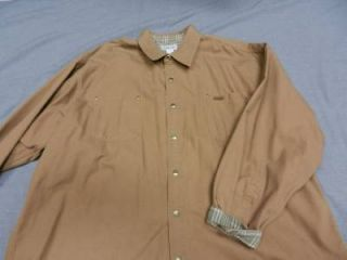 Carhartt Jacket Chore Coat Shirt Flannel Lining Men 3XL XXXL Big Tall Brown