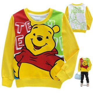 Baby Toddler Kids Boys Girls Winnie The Pooh Long Sleeve T Shirt 2 8 Years 6041
