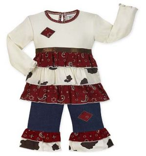Baby Girls Western Cowgirl Kid Clothing Clothes 18 24M