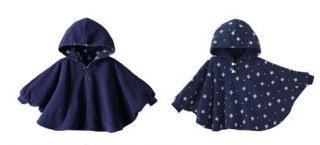 New Baby Kids Boy Girl Double Side Wear Hoodie Cloak Poncho Cape Mantle Coat