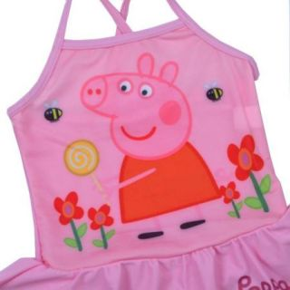 Girls Kids Peppa Pig Swimsuit Swimming Swimwear 2 6Y Blue Tulle Bikini Beachwear