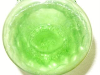 Vintage E O Brady Cleveland Ohio Pressed Bubble Rippled Glass Green Vase A119