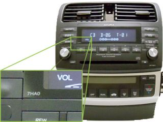 04 05 06 07 Repair Only Acura TSX Radio Stereo Receiver 6 Disc Changer CD Player