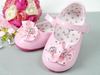 New Kids Girl Pink Mary Jane Shoes Size 5 6 7 8