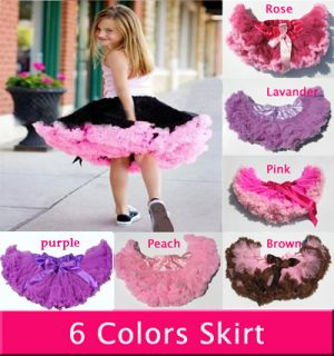 Baby Kids Girls Dancewear Cute Chiffon Tutu Full Pettiskirt Princess Skirt 3 6Y