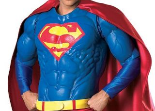 Rubies Supreme Muscle Chest Superman Collector Adult Costume Standard 909865