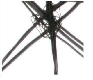 Artist Designed Steel Tripod Coffee Table Copper Wash