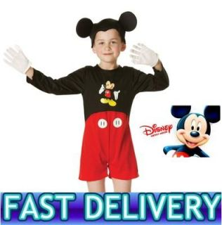 Childrens Kids Boys Classic Mickey Mouse Disney Child Fancy Dress Costume 130