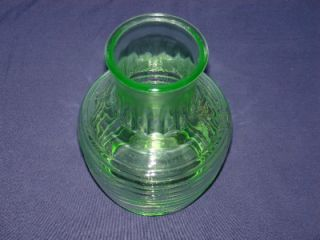 Green Depression Glass Refrigerator Water Juice Pitcher Jug Carafe Decanter