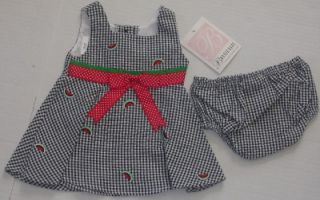 Bonnie Jean New Infant Baby Girls Dress Size 0 3 Months Watermelon Red Clothes