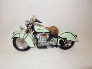 Franklin Mint 1942 Indian Mint Green 442 Motorcycle Model 1 10 Great Condition
