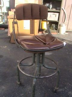 Vintage do More Industrial Drafting Stool Mid Century Modern RARE Tall Chair